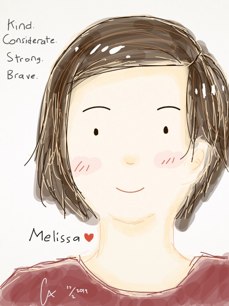 Nisa from Indonesia mad a picture of Melissa